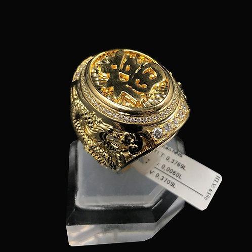 Nhẫn nam Rồng vàng chữ Phước VJC 610