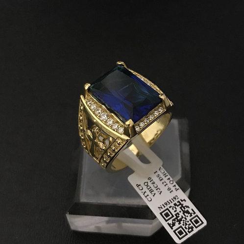 Nhẫn nam Thánh giá đá xanh biển VJC 610