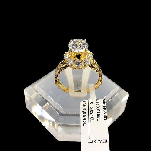 Nhẫn nữ đồng tiền vàng đá trắng VJC 610