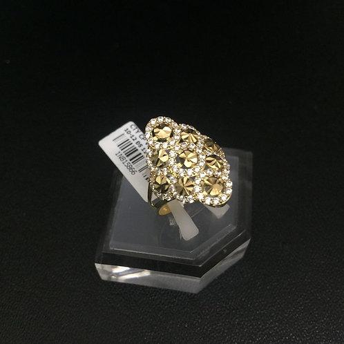 Nhẫn vàng nữ đá tấm trắng VJC 610