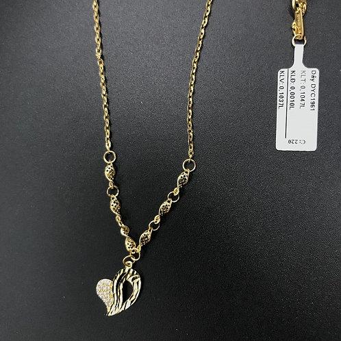 Dây chuyền vàng trái tim VJC 610
