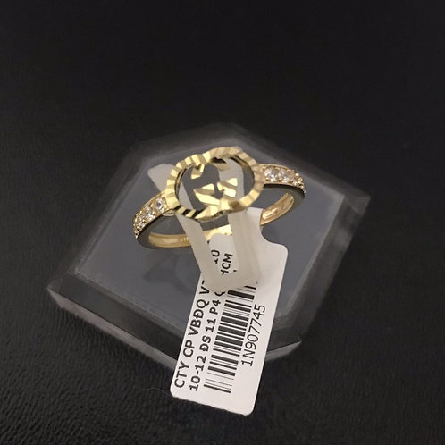 Nhẫn vàng nữ đá tấm trắng Gucci VJC 610