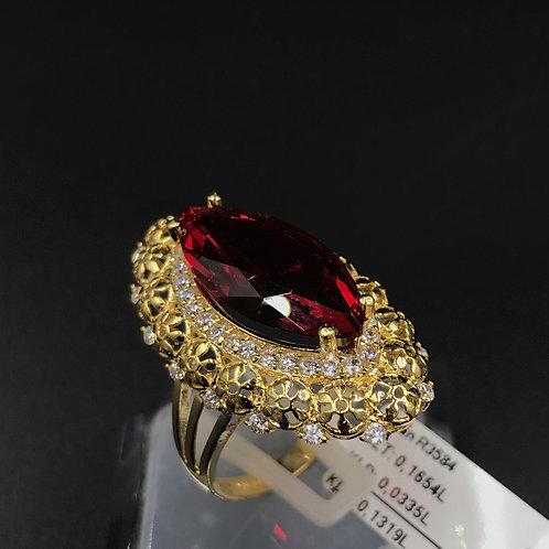 Nhẫn nữ vàng đá đỏ