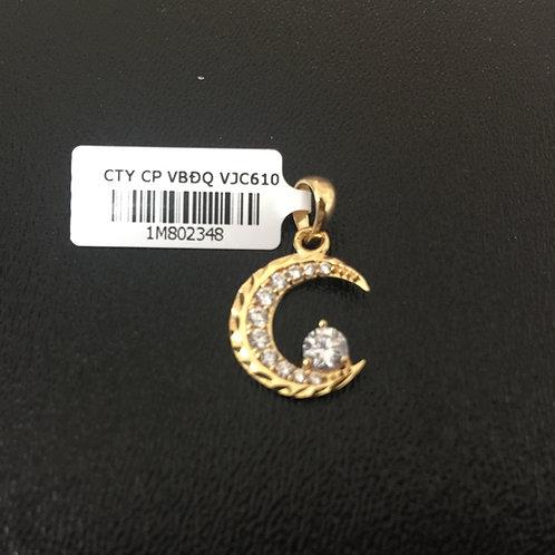 Mặt dây chuyền vàng nữ vầng trăng VJC 610