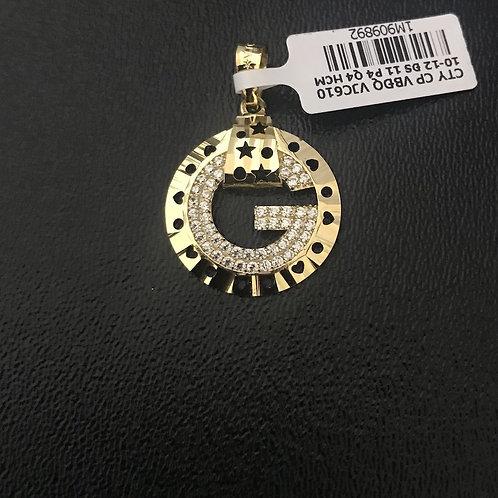 Mặt dây gucci vàng đá trắng VJC 610