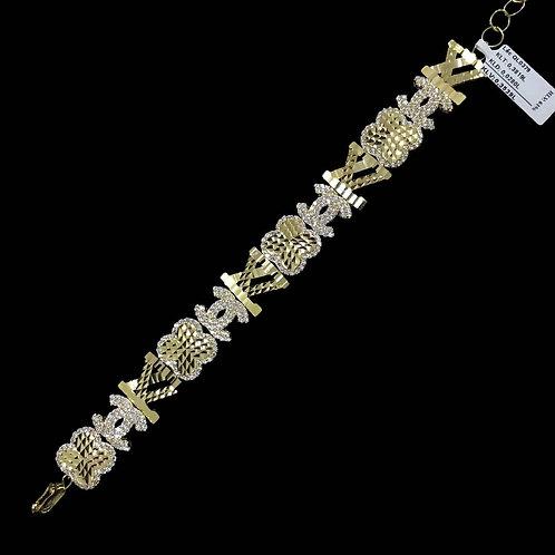 Lắc tay vàng LV Chanel đá trắng - VJC 610