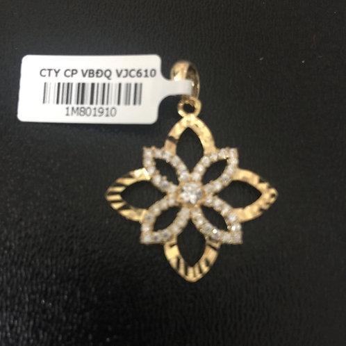Mặt dây chuyền vàng cánh hoa VJC 610