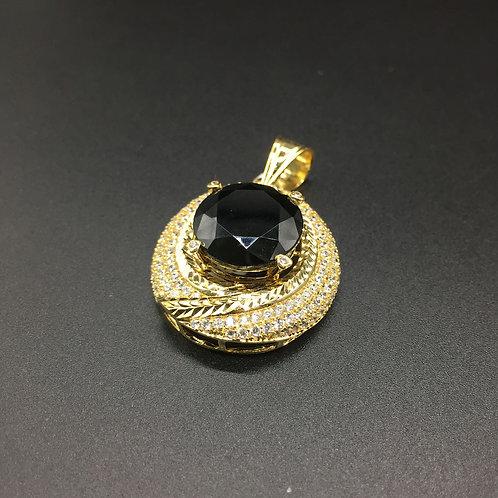 Mặt dây chuyền vàng nữ đá đen lớn VJC 610