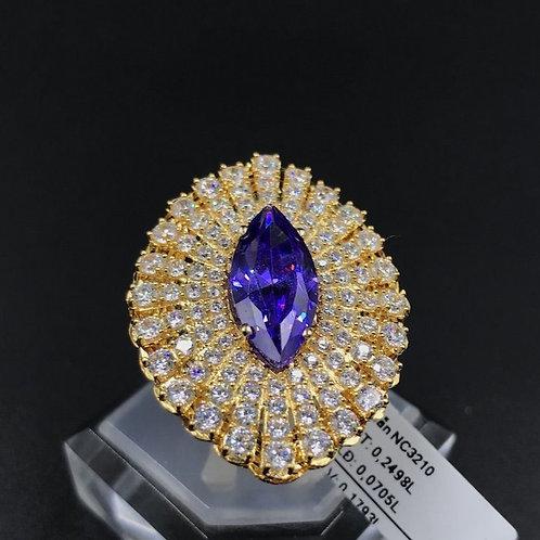 Nhẫn nữ vàng đá màu tím
