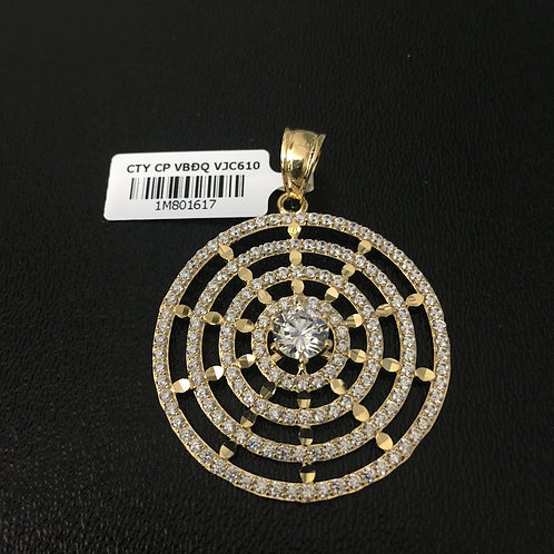 Mặt dây chuyền vàng vòng tròn đồng tâm VJC 610