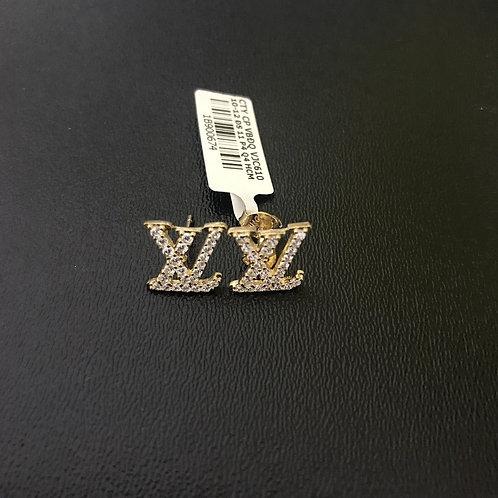 Bông tai vàng LV đá trắng VJC 610