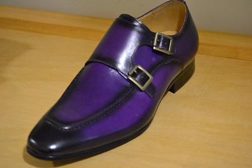 Carrucci Purple Double Monkstraps