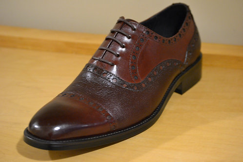 Carrucci Burgundy CapToe Deer Skin Oxford