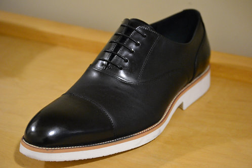 Carrucci Black Crepe Sole Oxford