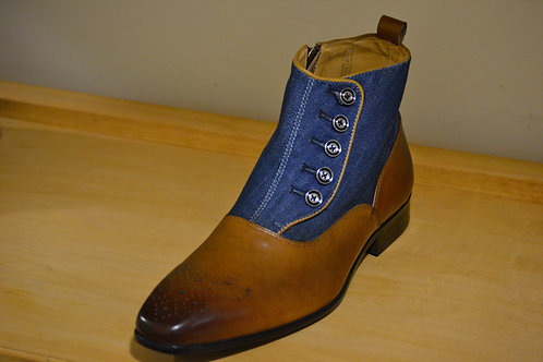 Carrucci Blue Denim Zip Boot