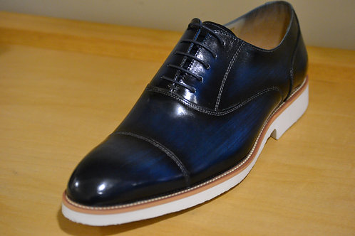 Carrucci Blue Crepe Sole Oxford
