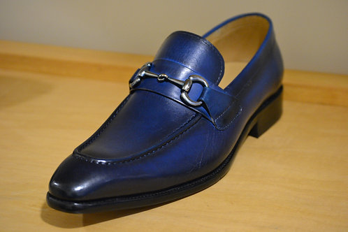 Blue Loafer with Horsebit Hardware