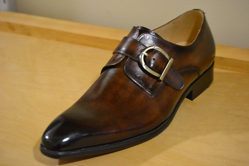 Carrucci Chestnut Single Monkstrap