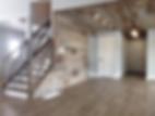 home renovation, barnboard,living room, wood stair rail withcross design