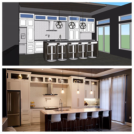 3d design,before and after reno boase design, boase design, show kitchen,