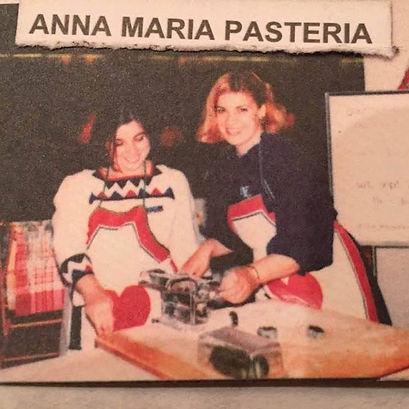 Sisters Anna and Maria making pasta