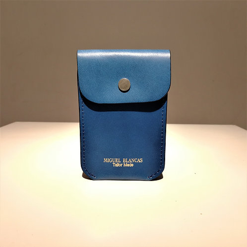 FLAP Card Case Royal Blue Cowhide