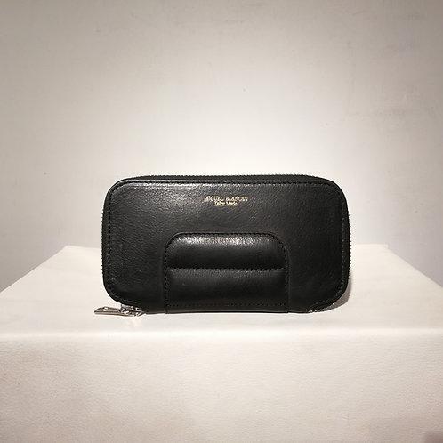Spencer Zip Around Wallet Black
