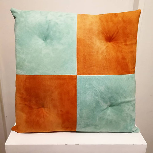Chester Leather Cushion Multi Suede Calfskin
