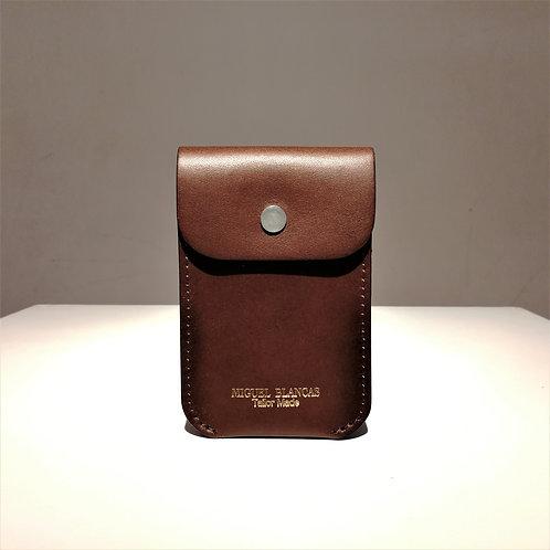 FLAP Card Case Brown Cowhide