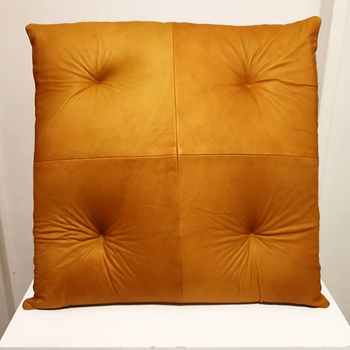 Chester Leather Cushion Camel Cowhide
