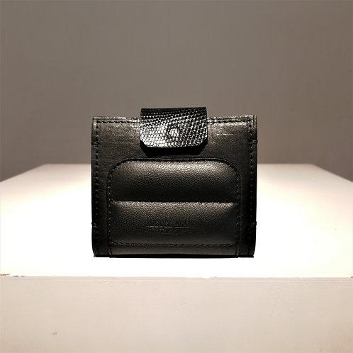 MAS MINIMO Wallet Black Cowhide × Black Lamb × Black Lizard