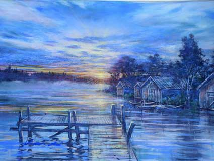 7. 湖畔の桟橋