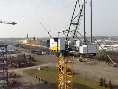 Time-Lapse Video: Tower crane erections at OETIO campuses