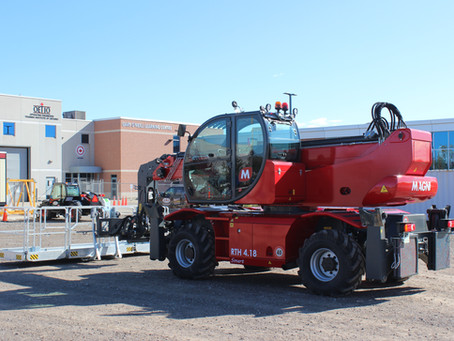 New Magni RTH 4.18 Smart Telehandler delivered to OETIO Oakville campus