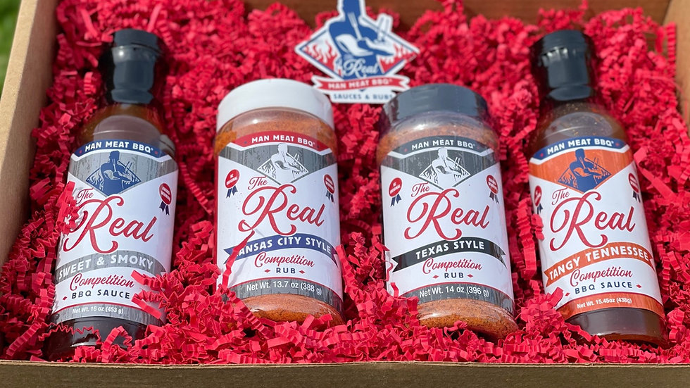 The Real Man Meat BBQ Gift Set - 4 product