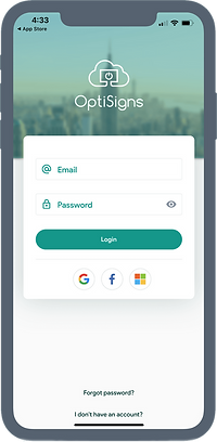 OptiSigns mobile app