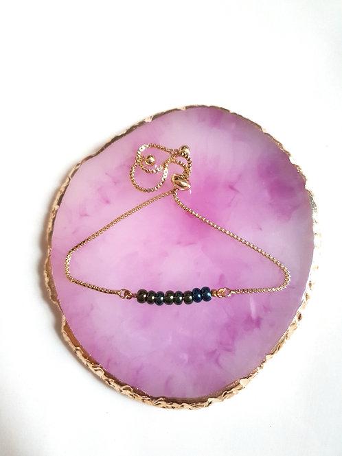 Gold-bleu bracelet