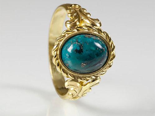 8KT vintage ring turkoois