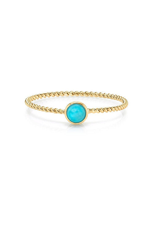 14kt gold turquoise ring