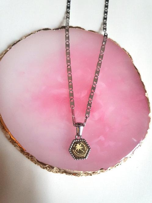 Quote necklace zeshoek