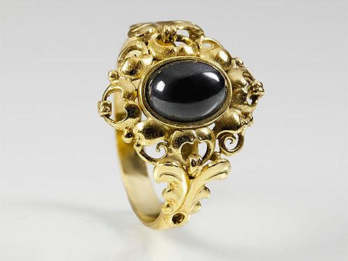 8KT Vintage ring Hermatiet