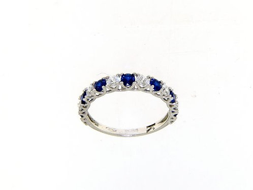 18kt crystal band ring