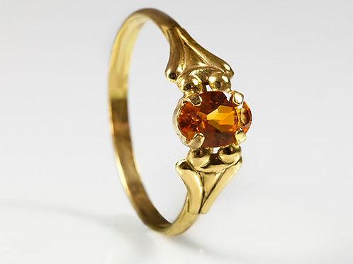 8KT vintage ring Citrine
