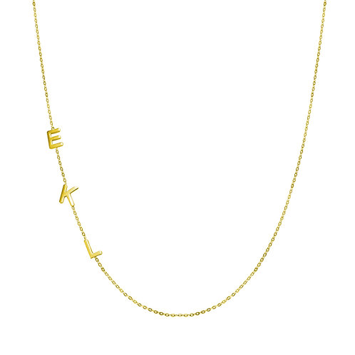 14kt gold letter chain necklace 2 letters