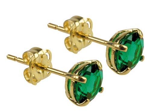 9KT Gemstone Birthstone Earrings