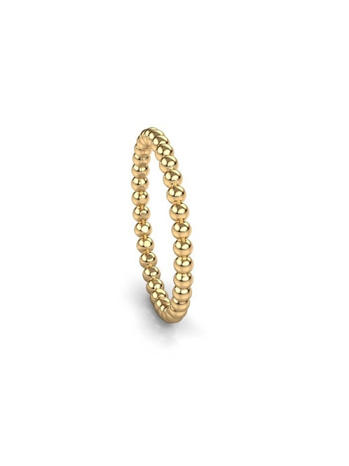 14kt bubble ring