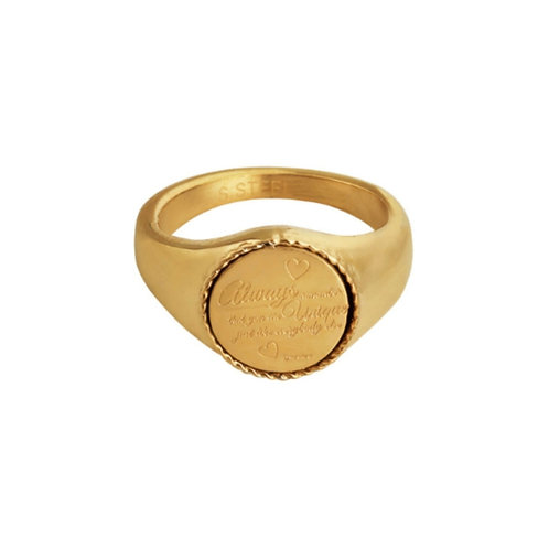 Zegelring quote rond