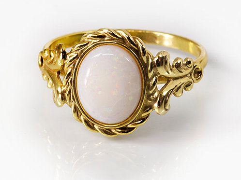 8KT vintage ring opaal