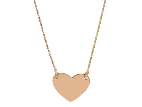 9 karaat heart tag necklace