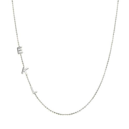Letter chain necklace 2 letters